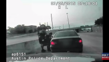 Police Officer Saves Choking Woman on Freeway
