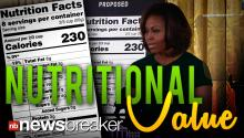 NUTRITIONAL VALUE: First Lady Pushes New Easier-to-Read Labels on Food Products in U.S.
