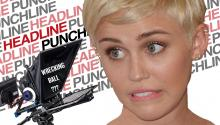 Headline Punchline: Miley Cyrus Loves Her Teleprompter
