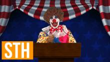 Bubbles The Clown Announces 2016 Republican Presidential Candidacy