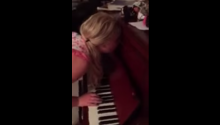Sleepwalking Girl Plays Piano