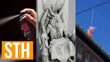 Portland's Sex Toy Fairy, Detroit's Satan Statue, Spray-On Condom!