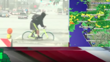 Bike Fail Caught on Live TV