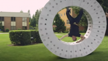 An Oregon University made a Wheel out of iMac Boxes