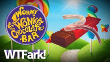 WORMY WONKA AND THE CHOCOLATE BAR: Michigan Woman Finds Worm In Chocolate Bar From Party City. Takes Video, Uploads It To Facebook, Is Upset That Public Facebook Video Is Seen And Shared By The Public.