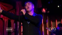 "Morrissey performs ""Kiss Me A Lot"""