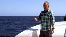 Blue Whale Makes TV Presenter Eat His Own Words