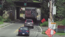 Truck Explodes Upon Collision with Low Bridge