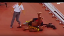Camera Man Takes Out The Usain Bolt With Segway