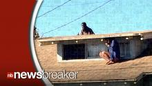 Woman Caught on Camera Hiding from Burglar on Roof During Home Invasion
