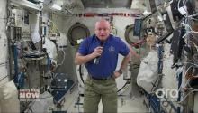 NASA astronaut Scott Kelly in space talks physical toll