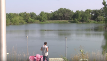Man Catches Fish With His Drone