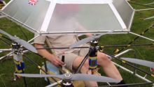 Super Drone Takes Flight with Man Aboard