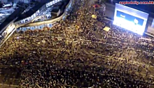 Just How Big Are The Protests In Hong Kong? Here. Let This Drone Show You!