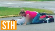 Woman Sexes Up Passed Out Man In Public Parking Lot In Broad Daylight