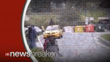 Rally Car Narrowly Misses Crashing into Bystanders