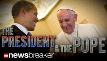 "THE PRESIDENT MEETS THE POPE: In First-Ever Meeting, Obama asks Pontiff ""Pray for My Family"""
