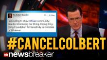 "#CANCELCOLBERT: Twitter Reacts to ""Racist Tweet"" from Comedy Central's Colbert Report Account"