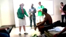 GO-GOING VIRAL! New Kid Straight Owns this Locker-Room Rap Battle