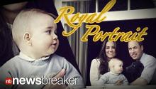 ROYAL PORTRAIT: Duke and Duchess Release New Family Photo Featuring Baby George and Lupo