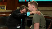 Bruce Gold attempts a spiritual healing in the 'Larry King Now' studio