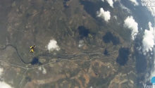 VIRAL VIDEO: Skydiver Almost Struck By Falling Meteorite