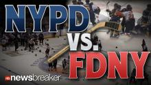 NYPD vs. FDNY: New York's Finest Get in Epic Brawl During Charity Hockey Match