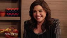 Rachael Ray talks to Larry King about chefs versus cooks, Julia Childs, & cooks salmon with Larry