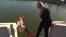TODAY'S LOL: News Reporter Falls off a Boat