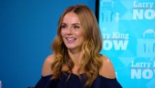 Geri Halliwell turns the (interview) tables on Larry!