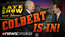 COLBERT IS IN!: The Comedy Central Host Set to Take Over the Late Show from David Letterman Next Year