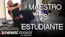 MAESTRO VS. ESTUDIANTE: Un altercado entre un alumno y un profesor de ciencias es captado en video