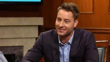 How Justin Hartley met his fiance