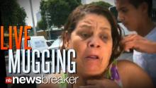 LIVE MUGGING: Woman Attacked During Interview in Brazil While Talking About High Crime Rate in Area