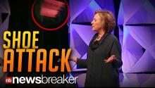 SHOE ATTACK: Unknown Woman Throws Footwear at Hillary Clinton During Waste Management Speech