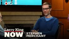 """It's very divided"": Stephen Merchant is baffled by American politics"