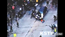 That Awkward Moment When You're Peacefully Protesting And A FREAKING CAR RUNS YOU OVER