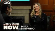 """Most powerful things in my life"": Mira Sorvino on meeting human trafficking survivors"