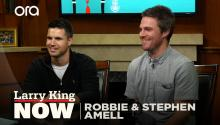 Robbie and Stephen Amell on 'Code 8', auditioning for 'Arrow' & growing up together