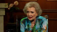 Betty White dodges the paparazzi