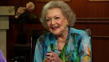 Betty White talks 'Golden Girls' era & troubled young stars.